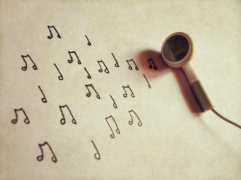 mendengar lagu