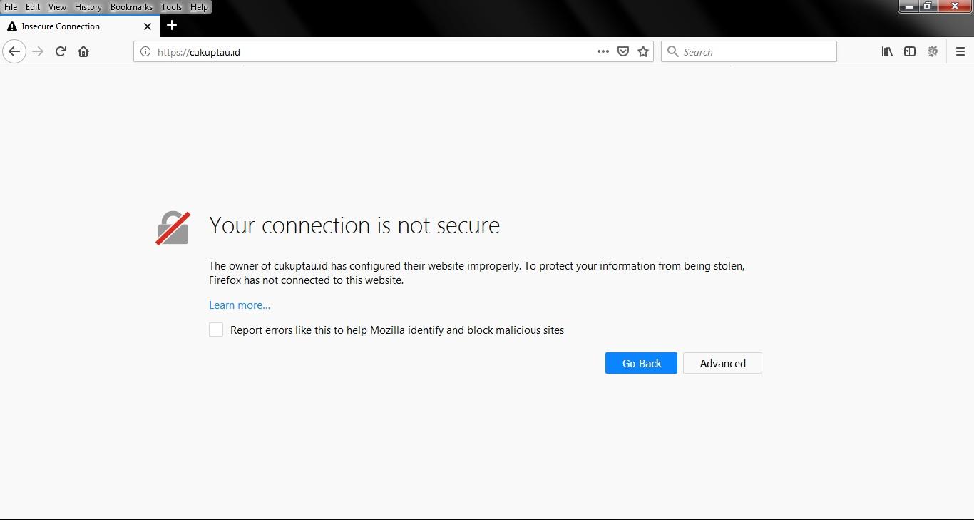 Cara Mengatasi Your Connection is Not Secure Pada Google Chrome & Firefox