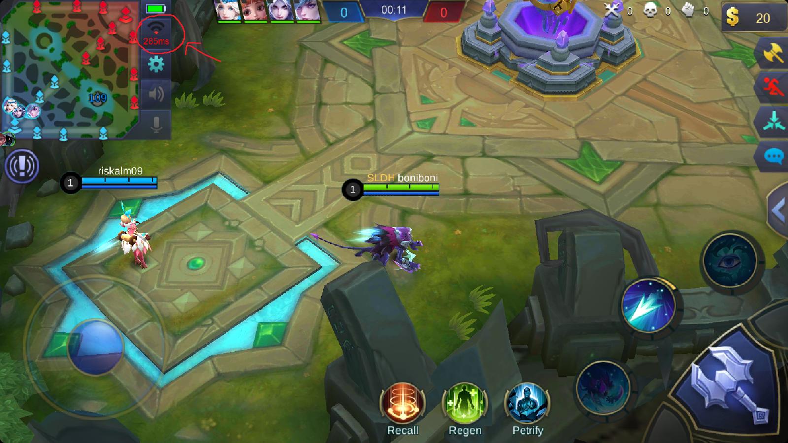 cara agar tidak lag saat bermain mobile legend