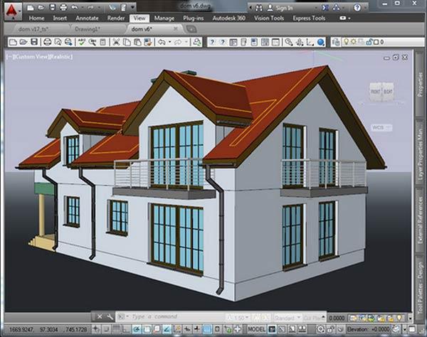 Aplikasi Desain Rumah pc ringan AutoCAD-Architecture
