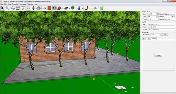 Aplikasi Desain Rumah pc ringan Energy-3D