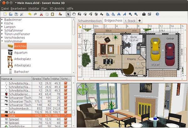 Aplikasi Desain Rumah pc ringan Swee-Home-3D