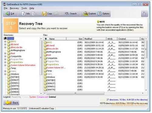 mengembalikan file yang terhapus GetDataBack