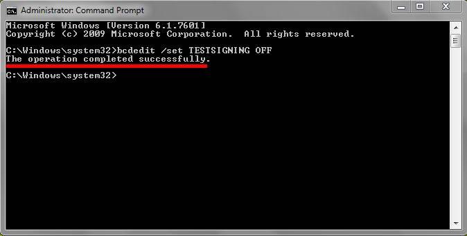 Cara Menghilangkan tulisan Test Mode Windows 7