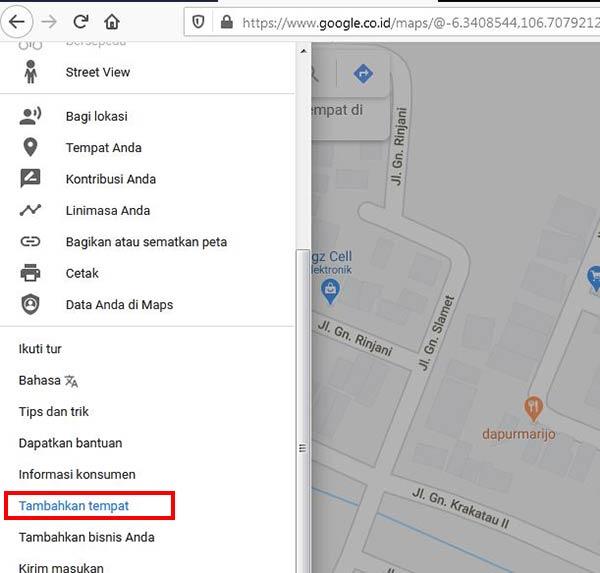 Cara Menambahkan Titik di Google Map