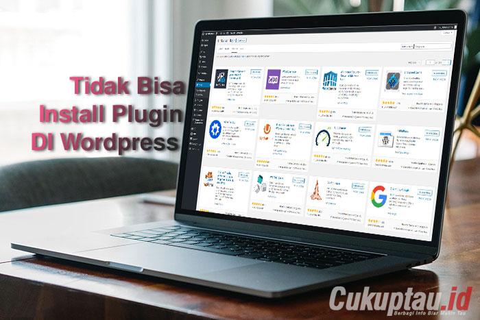tidak bisa install plugin di wordpress