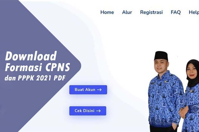 Download Formasi CPNS 2021 PDF