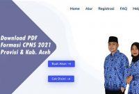 Download Formasi CPNS 2021 PDF Provinsi dan Kabupaten Aceh