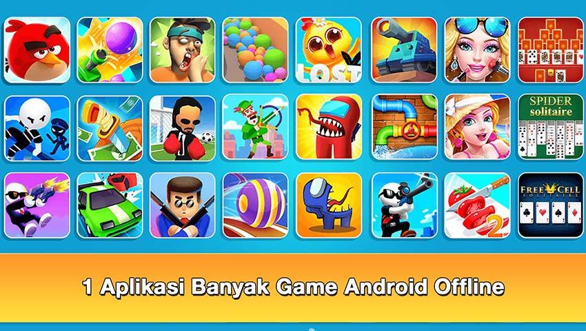 1 aplikasi banyak game android offline