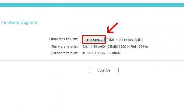 cara upgrade firmware tp link wr840n